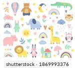 abstract colorful baby doodles...   Shutterstock .eps vector #1869993376