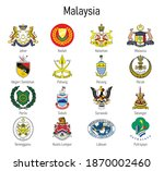 coat of arms of the state of... | Shutterstock .eps vector #1870002460