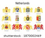 coat of arms of the province of ... | Shutterstock .eps vector #1870002469