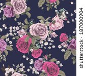 seamless floral pattern with of ... | Shutterstock .eps vector #187000904