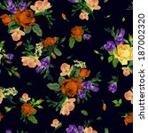 seamless floral pattern with of ... | Shutterstock .eps vector #187002320