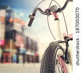 bike and summer photo of city  | Shutterstock . vector #187003070