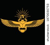 pharaonic wings egyptian and... | Shutterstock .eps vector #1870030753