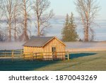Old Wooden Farm Building At...