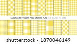 illuminating yellow gingham... | Shutterstock .eps vector #1870046149
