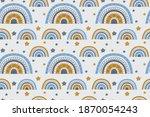 seamless pattern of cartoon...   Shutterstock .eps vector #1870054243