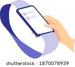 smartphone scrolling thumb... | Shutterstock .eps vector #1870078939