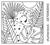 tropical cheetah animal in...   Shutterstock .eps vector #1870083043