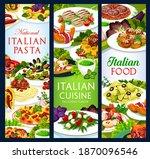 Italian Cuisine Vector Food...