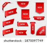 new product red labels  price... | Shutterstock .eps vector #1870097749