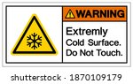 warning extremely cold surface... | Shutterstock .eps vector #1870109179