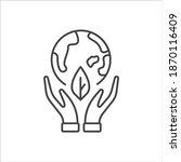 ecology icon flat design ... | Shutterstock .eps vector #1870116409