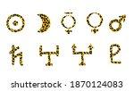 set of animal print symbols of...   Shutterstock .eps vector #1870124083
