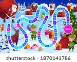 christmas board game for kids... | Shutterstock .eps vector #1870141786