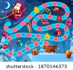 kids christmas board game with... | Shutterstock .eps vector #1870146373