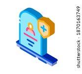 death insurance icon vector.... | Shutterstock .eps vector #1870163749