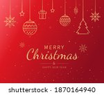 merry christmas and happy new... | Shutterstock .eps vector #1870164940