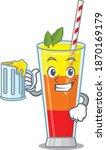 a cartoon concept of tequila... | Shutterstock .eps vector #1870169179