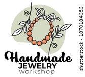 diy handmade jewelry  workshop...   Shutterstock .eps vector #1870184353