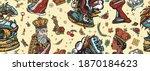 chess seamless pattern. white... | Shutterstock .eps vector #1870184623