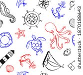 seamless pattern with different ...   Shutterstock .eps vector #1870188643