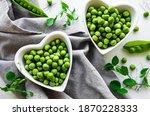 Green Peas In Heart Shaped...
