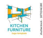 custom kitchen cabinet wooden... | Shutterstock .eps vector #1870246180