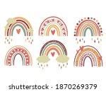 scandinavian rainbows set for... | Shutterstock . vector #1870269379