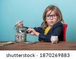 portrait of child who steals...   Shutterstock . vector #1870269883