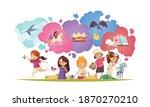 children dreaming composition... | Shutterstock .eps vector #1870270210