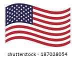 united states  flag waving.... | Shutterstock .eps vector #187028054
