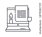 instructions icon  linear... | Shutterstock .eps vector #1870282729