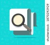 paper document inspection or... | Shutterstock .eps vector #1870292929