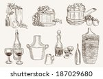 production and tasting homemade ... | Shutterstock .eps vector #187029680