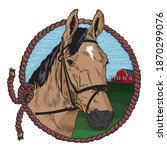 Horse Ranch Logo With Rope And...