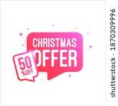 christmas offer shopping vector ... | Shutterstock .eps vector #1870309996