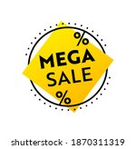 mega sale banner or label for... | Shutterstock .eps vector #1870311319