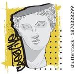 urban street style greek statue ... | Shutterstock .eps vector #1870328299