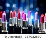 lipstick. makeup concept.... | Shutterstock . vector #187032830