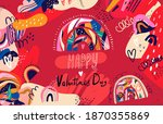 floral collection of cards ...   Shutterstock .eps vector #1870355869
