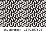 pattern with monochrome bold... | Shutterstock .eps vector #1870357603