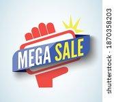 mega mobile sale graphic vector ... | Shutterstock .eps vector #1870358203