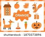 orange. educational worksheet... | Shutterstock .eps vector #1870373896