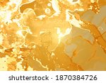 yellow and gold marble pattern. ... | Shutterstock .eps vector #1870384726