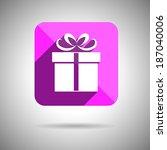 gift icon flat design. vector...
