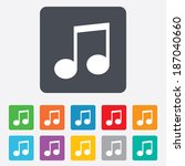music note sign icon. musical... | Shutterstock . vector #187040660