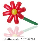 Red Balloon Flowers On The...