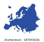 europe blue vector map isolated ... | Shutterstock .eps vector #187043636