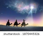 Christian Christmas Scene With...