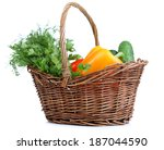 composition with raw vegetables ... | Shutterstock . vector #187044590